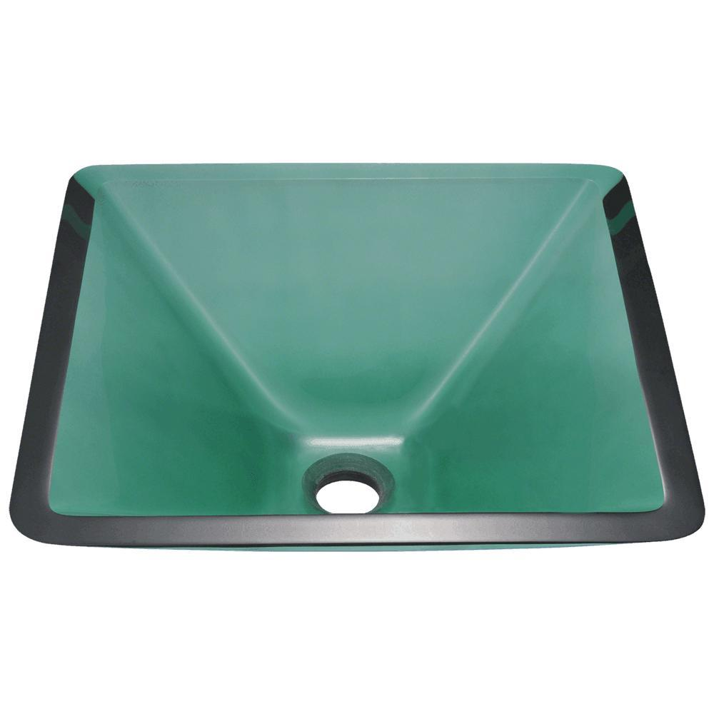 MR Direct Glass Vessel Sink in Emerald-603-Emerald - The Home Depot