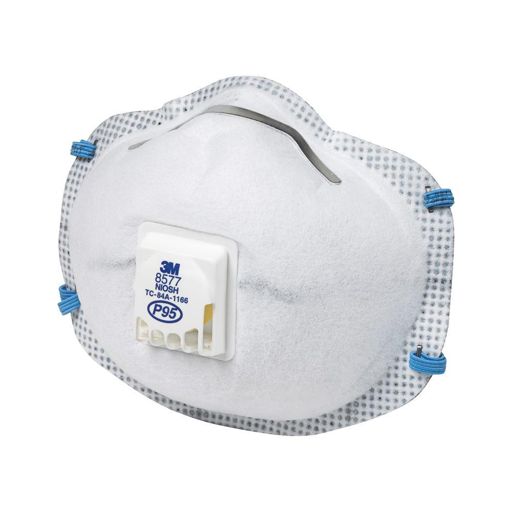 case Mask Respirator Paint P95 2-pack Valved Odor 3m 6 Of
