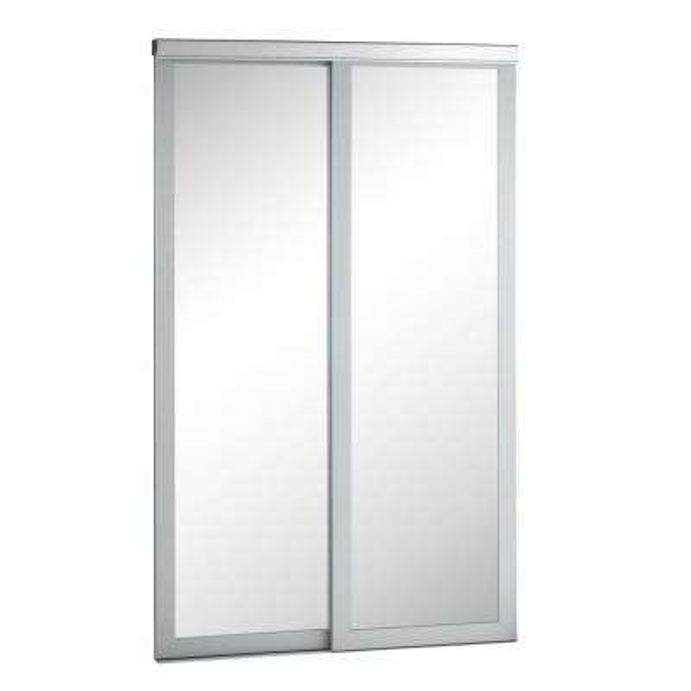 Mirror Urban Silver Frame for Sliding Door
