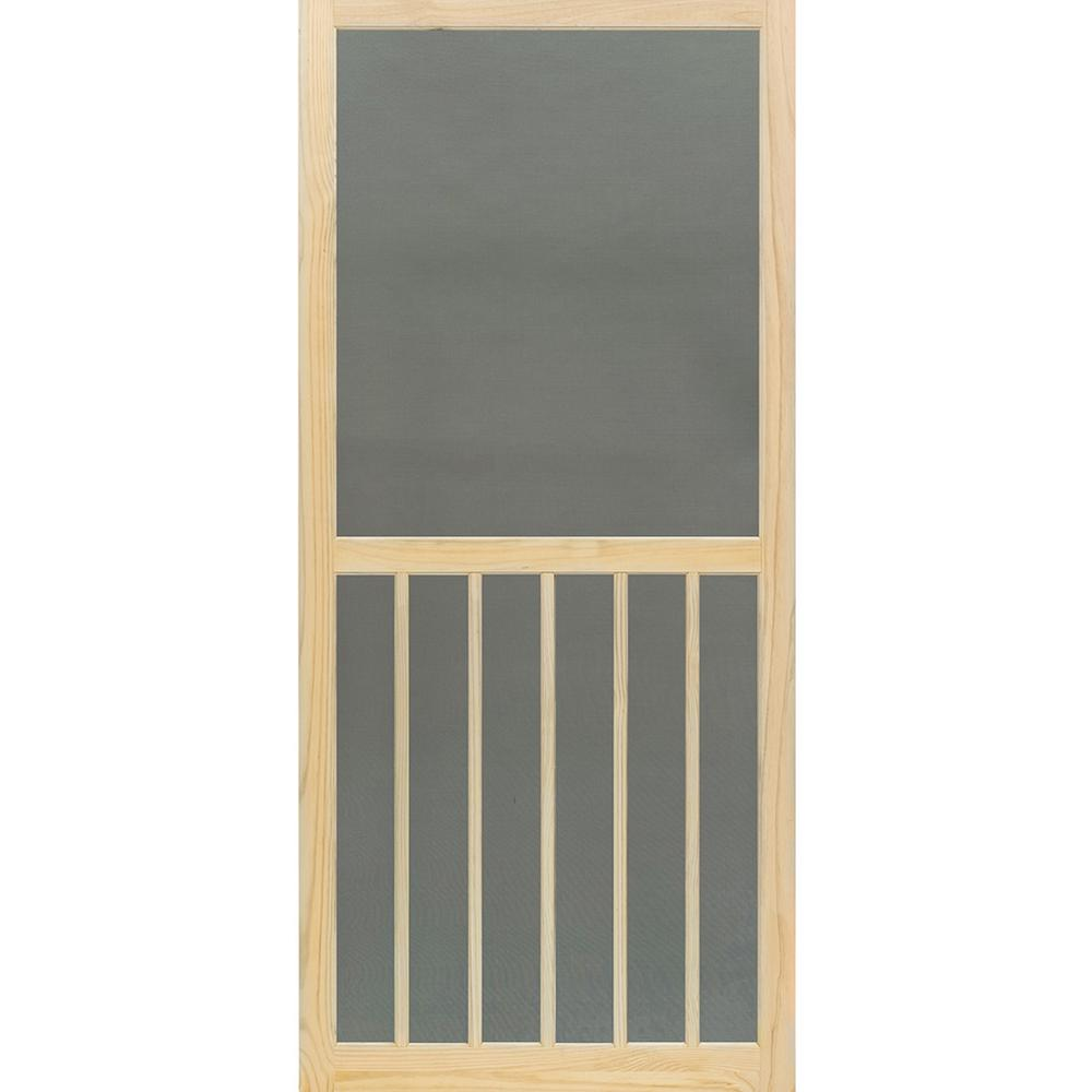Kimberly Bay 35.75 in. x 79.75 in. 5-Bar Stainable Screen Door