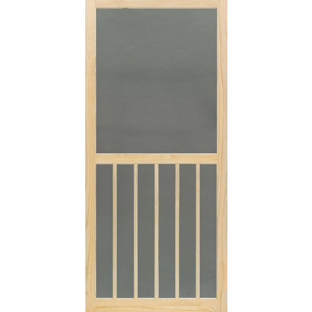 35.75 in. x 79.75 in. 5-Bar Stainable Screen Door