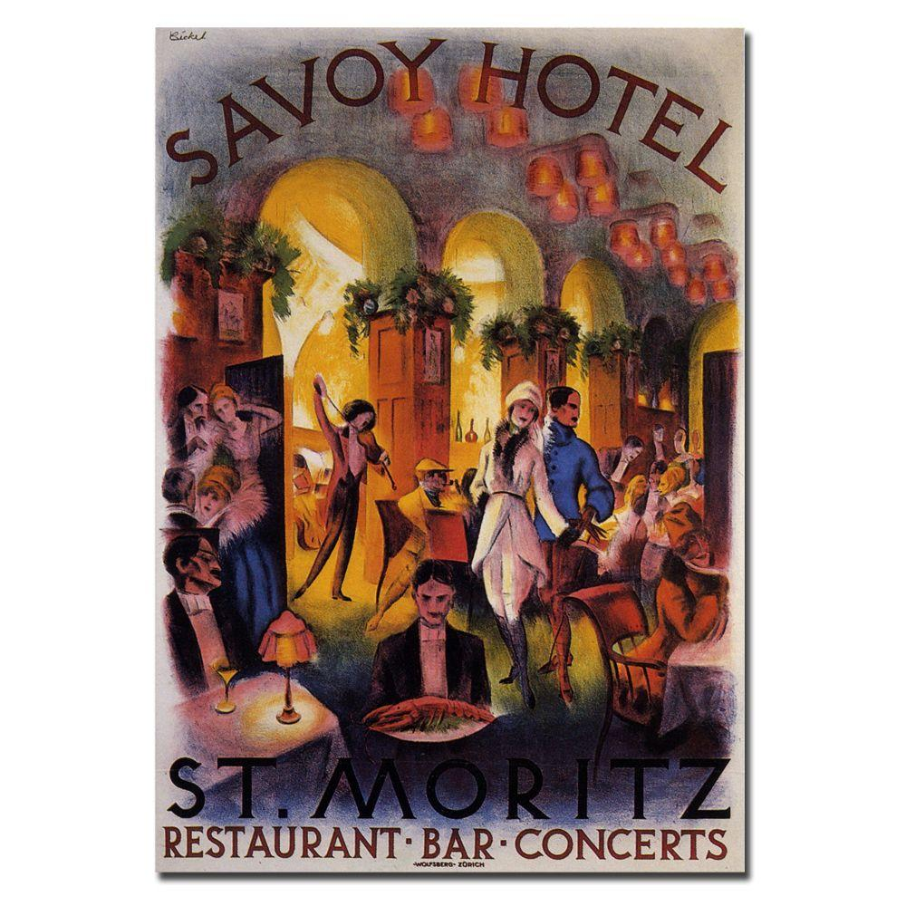 null 24 in. x 32 in. Savoy Hotel St. Moritz Canvas Art