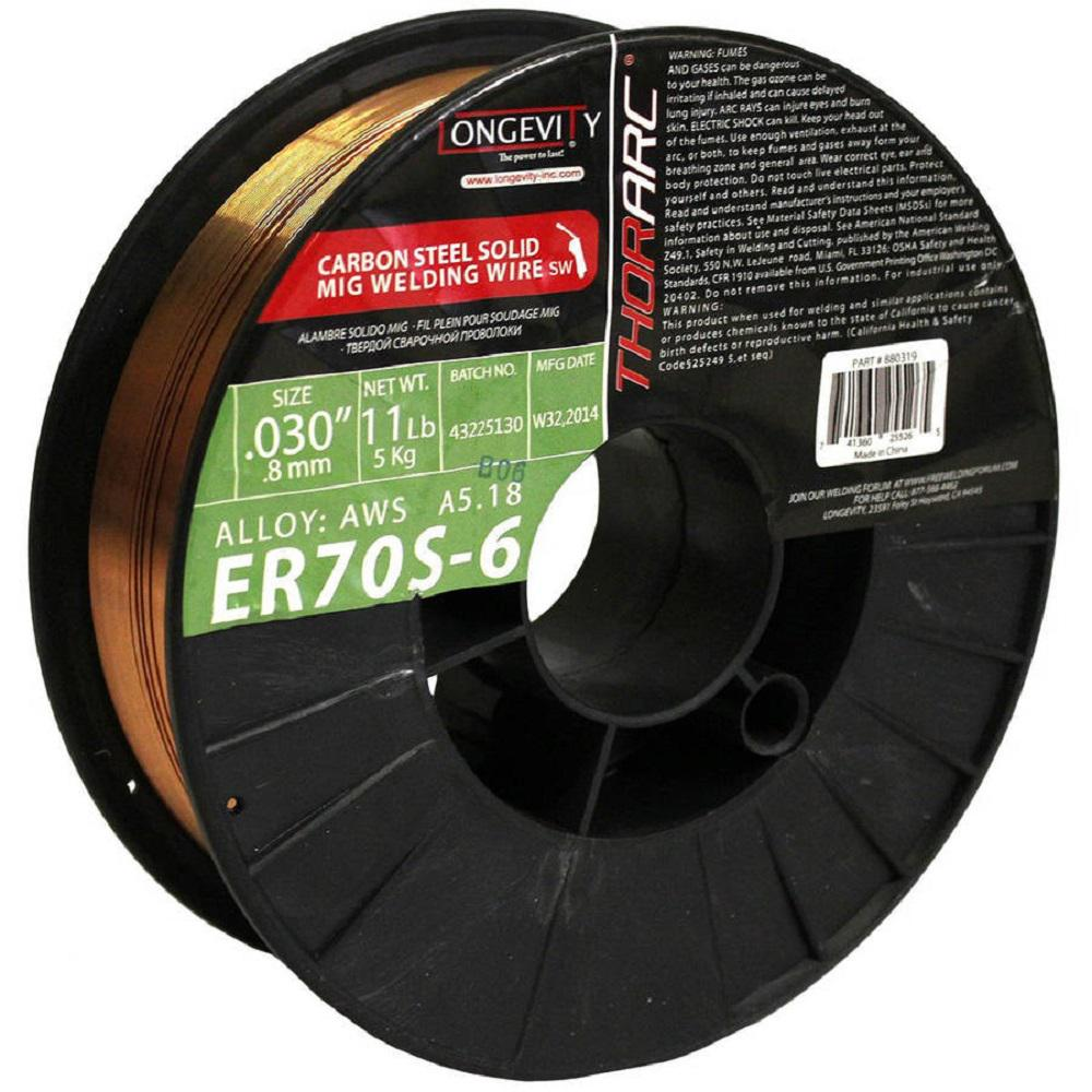 "11 lb Spool ER70S-6 .030/"" Solid MIG Welding Wire2 each"