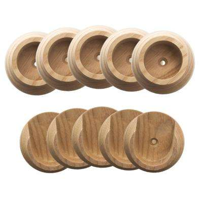 1-3/8 in. Natural Wood Closet Pole Socket (5-Pack)
