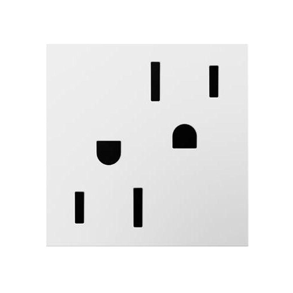 Legrand adorne 20 Amp Tamper Resistant Duplex Outlet, White