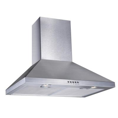 30 in. W Convertible Wall Mount Range Hood with 2 Charcoal Filters in Stainless Steel