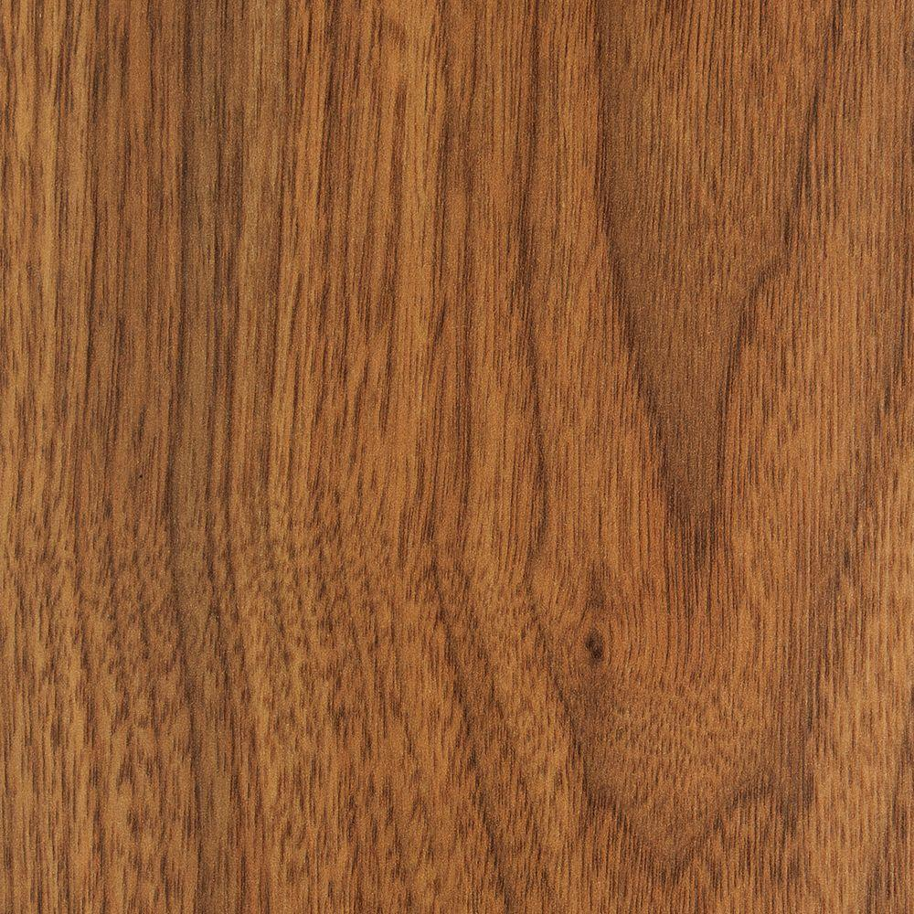 Trafficmaster embossed hawthorne walnut 8 mm thick x 5 5 8 for Walnut laminate flooring