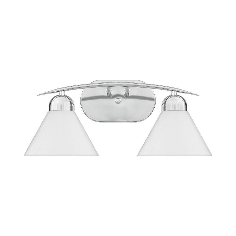 Filament Design Parker 2-Light Polished Chrome Bath Vanity Light