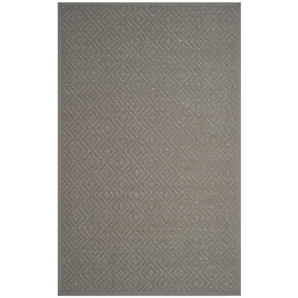 Natural Fiber Light Gray/Gray 4 ft. x 6 ft. Area Rug