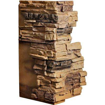 1-1/2 in. x 13-3/4 in. x 25 in. Arizona Gold Urethane Stacked Stone Outer Corner Wall Panel