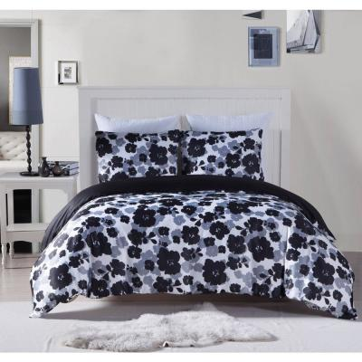 Lyla Full/Queen Satin Microfiber Duvet Set in Multi