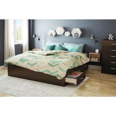 Majestic King Platform Bed Frame in Chocolate