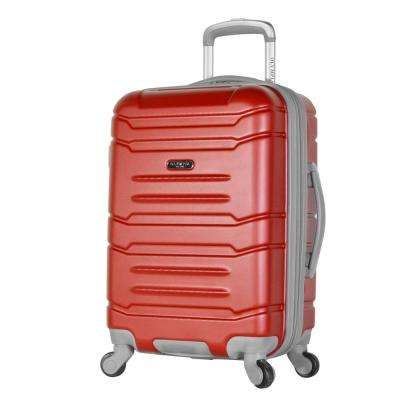 Denmark 21 in. Wine Expandable Carry-On Spinner with Hidden Compartment