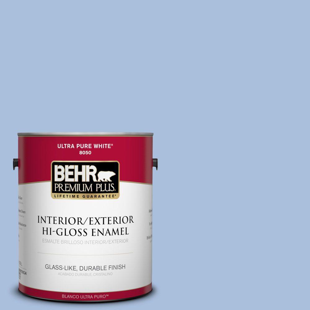 1-gal. #580D-4 Skysail Blue Hi-Gloss Enamel Interior/Exterior Paint