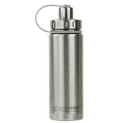 20 oz. Boulder Triple Insulated Bottle with Screw Cap - Silver Express (No Coat)
