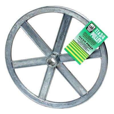 11 in. x 3/4 in. Evaporative Cooler Blower Pulley