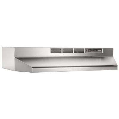 BUEZ1 30 in. Ductless Under Cabinet Range Hood with light and Easy Install System in Stainless Steel