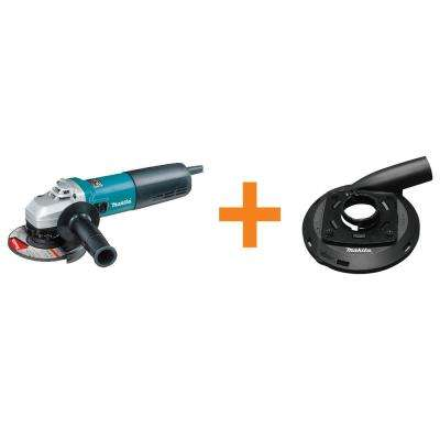 5 in. 13 Amp Angle Grinder with Bonus 5 in. Dust Extraction Surface Grinding Shroud