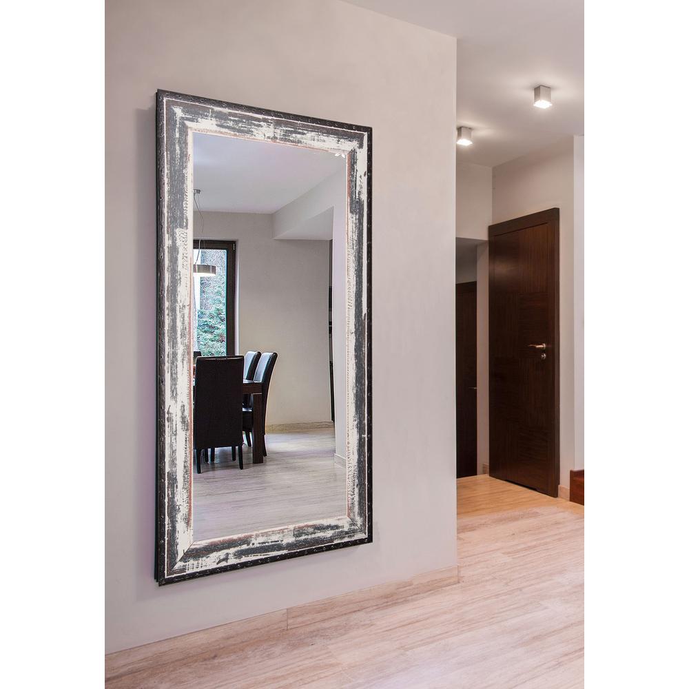 Rustic seaside double vanity wall mirror