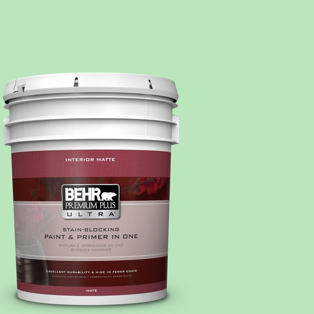 5 gal. #P390-3 Mint Parfait Matte Interior Paint