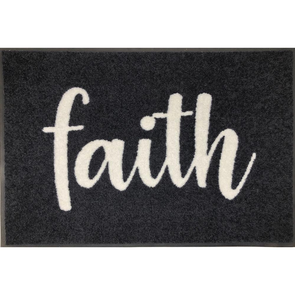 Whimsy Faith 20 in. x 30 in. Nylon Doormat