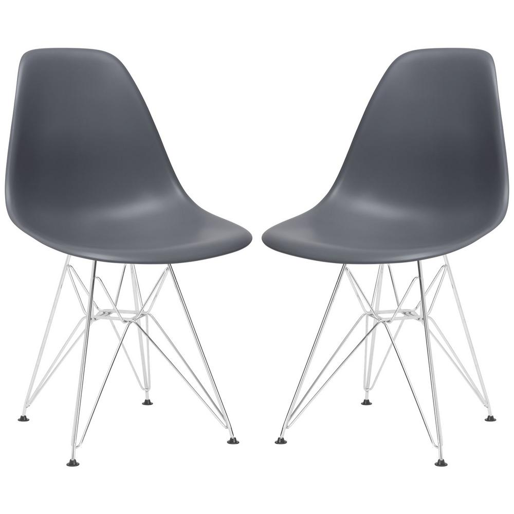 Padget Grey Side Chair (Set of 2)
