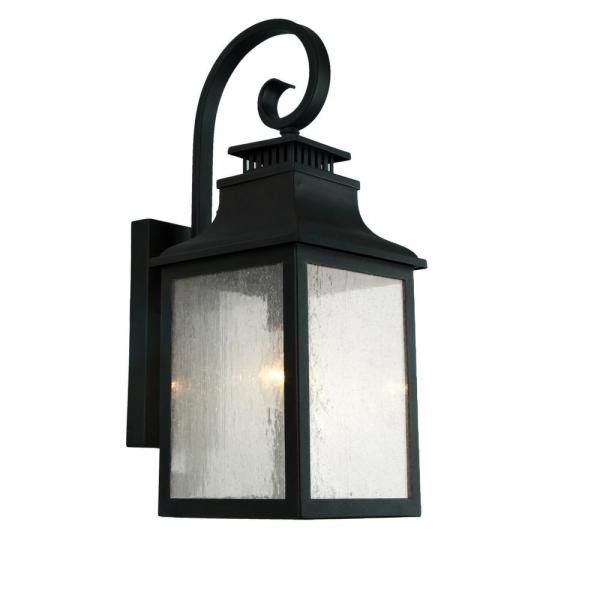 Unbranded Morgan 2 Light Imperial Black Outdoor Wall Lantern Sconce El2283ib The Home Depot