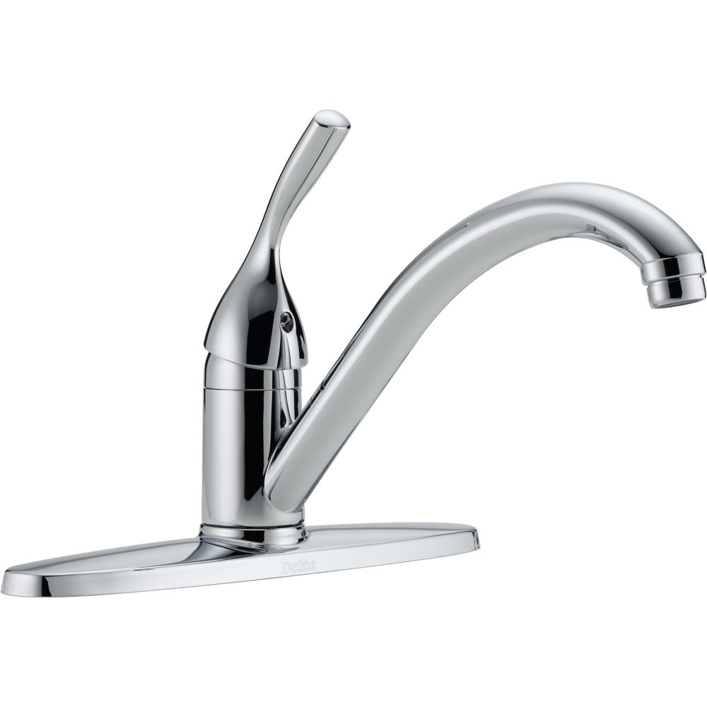 Delta Classic Single-Handle Standard Kitchen Faucet in Chrome