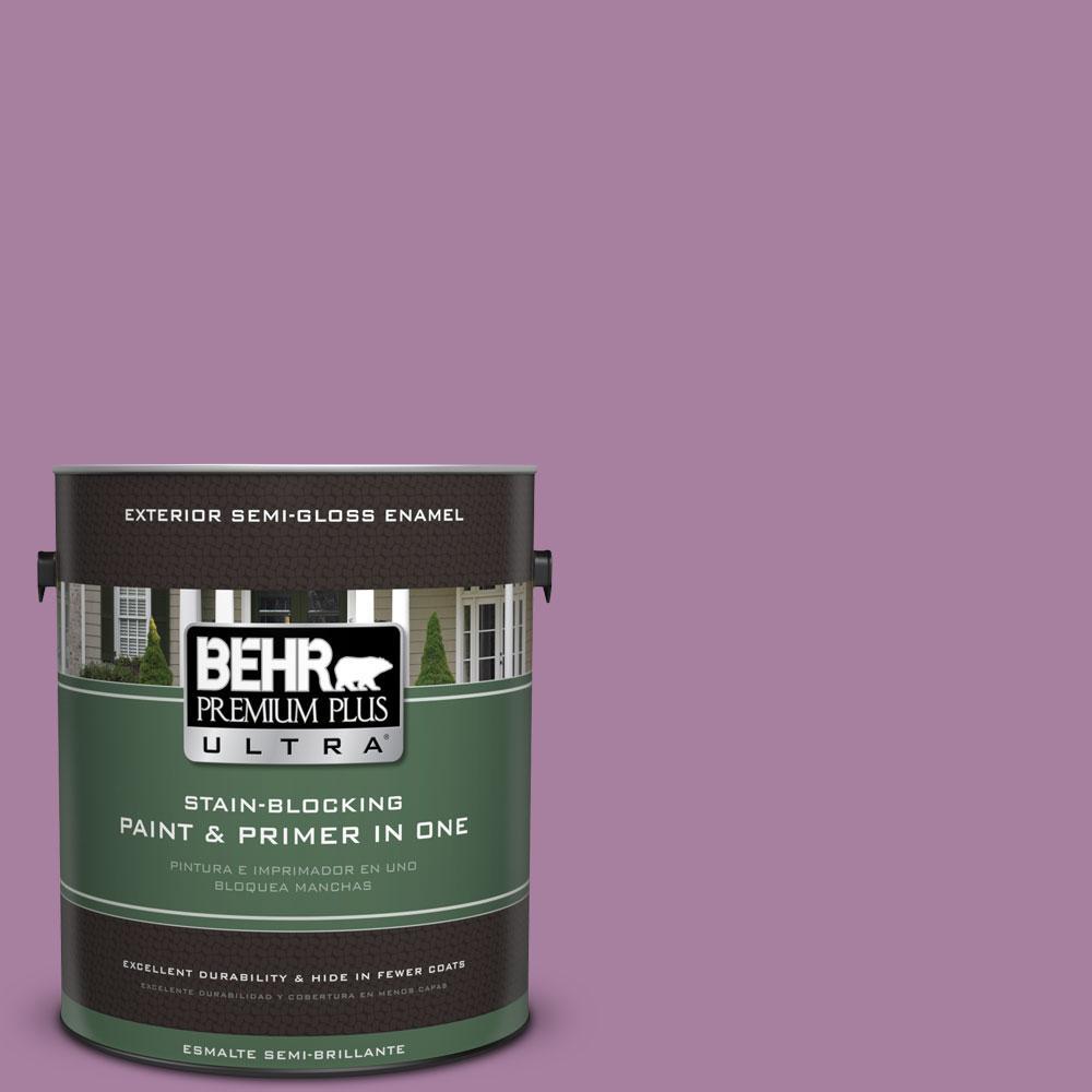 BEHR Premium Plus Ultra 1-gal. #M110-5 Amazonian Orchid Semi-Gloss Enamel Exterior Paint
