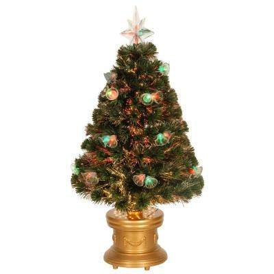 3 ft. Fiber Optic Double Bell Artificial Christmas Tree