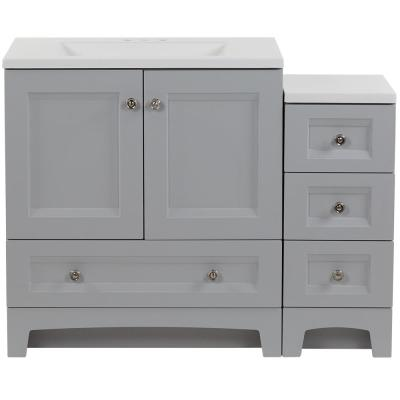 Delridge Bath Suite 30 in. Vanity Top and Drawer Base in Pearl Gray