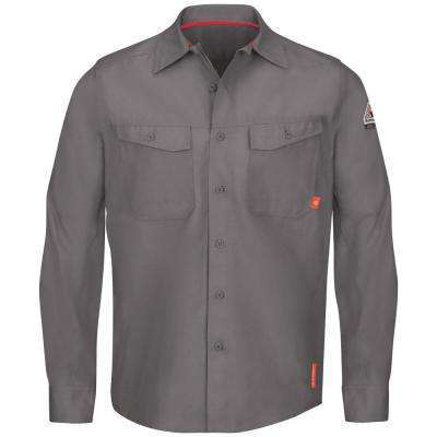 iQ Series Men's 5XL (Tall) Grey Endurance Work Shirt