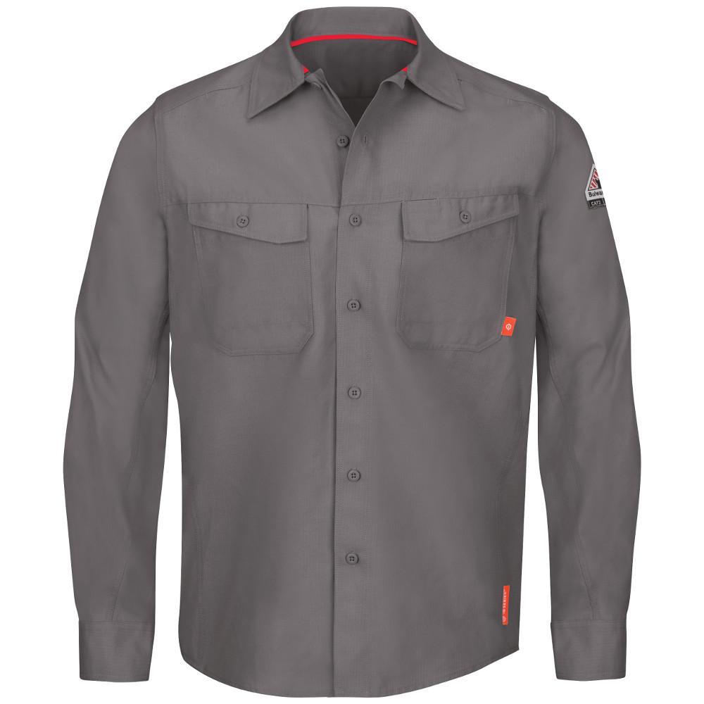 7eb39df13d6 Bulwark iQ Series Men s 5XL (Tall) Grey Endurance Work Shirt-QS40GY ...
