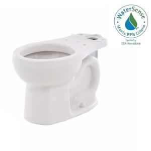 American Standard H2Option Siphonic Dual Flush Round Front Toilet Bowl Only in White by American Standard