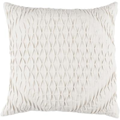 Arbutus Ivory Geometric Polyester 22 in. x 22 in. Throw Pillow