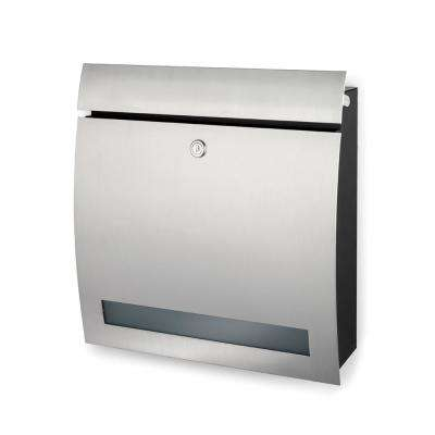 Signo Brushed Stainless Steel Wall Mounted Locked Mailbox with Windo