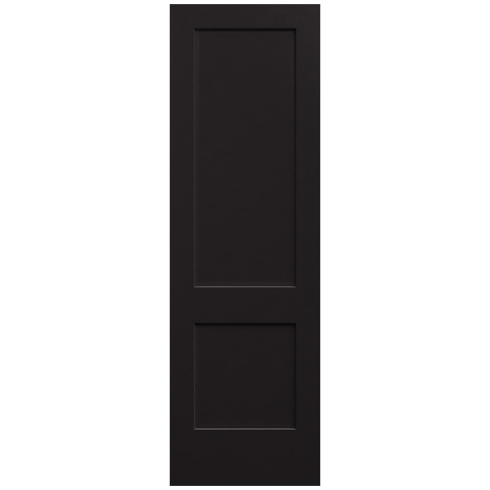 Jeld Wen 30 In X 96 In Monroe Black Painted Smooth Solid Core