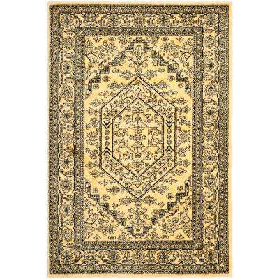 Adirondack Gold/Black 5 ft. 1 in. x 7 ft. 6 in. Area Rug