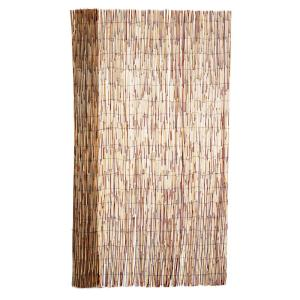6 ft. H x 16 ft. L Bamboo Coffee Peeled Reed Fence (4-Pack)