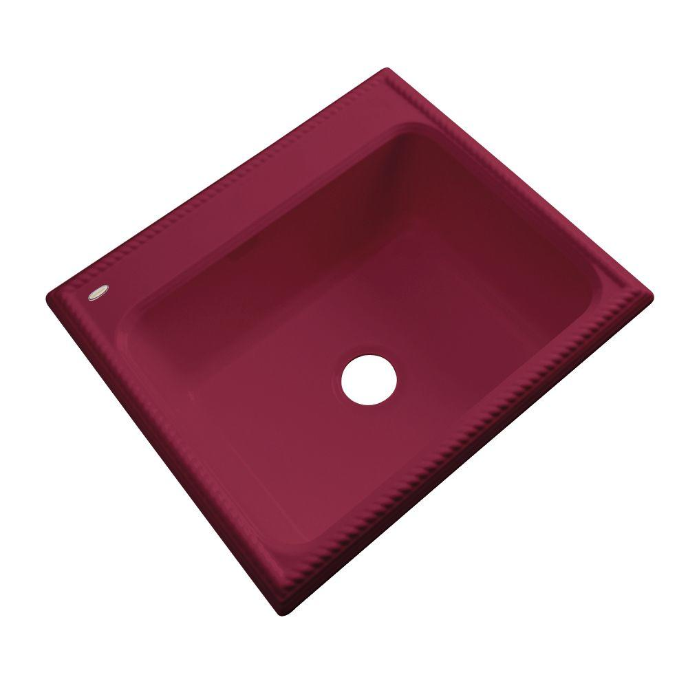 Thermocast Wentworth Drop-In Acrylic 25 in. Single Basin Kitchen Sink in Ruby