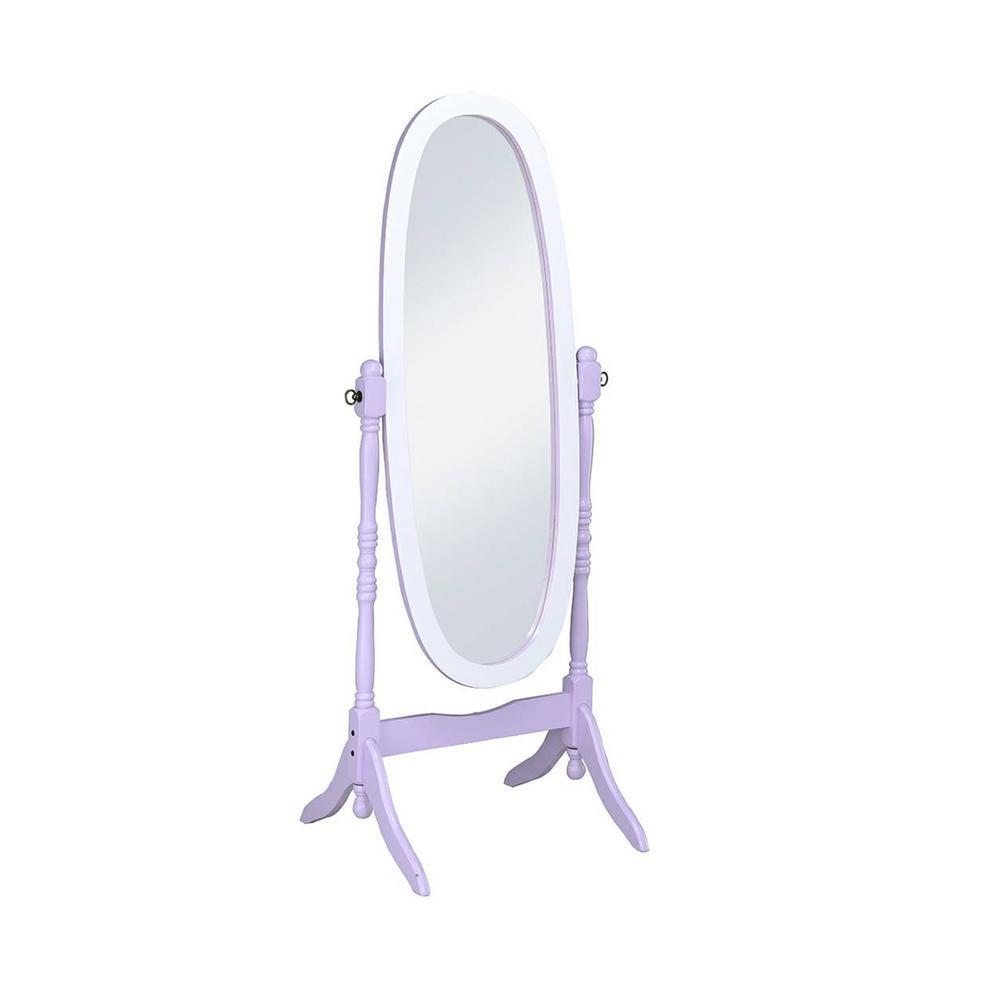 Large Purple Wood Tilting Modern Mirror (59.25 in. H X 21 in. W)