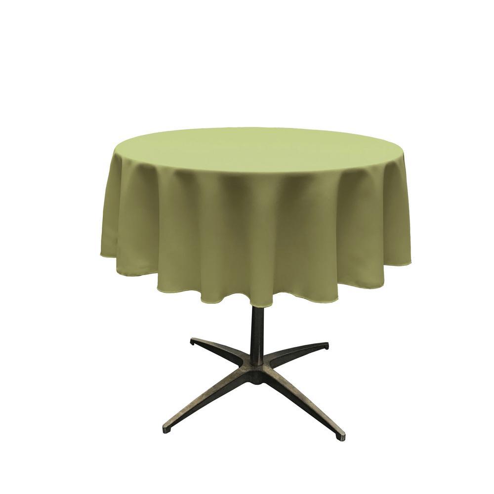58 in. Round Dark Sage Polyester Poplin Tablecloth