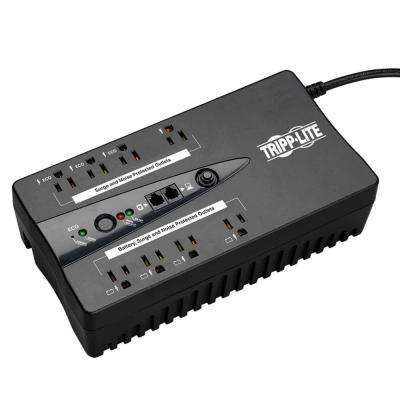 TAA-Compliant ECO Series 8-Outlets 120V 550VA 300W Energy-Saving Standby UPS with USB monitoring, Black