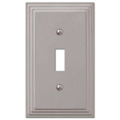 Tiered 1 Gang Toggle Metal Wall Plate - Satin Nickel