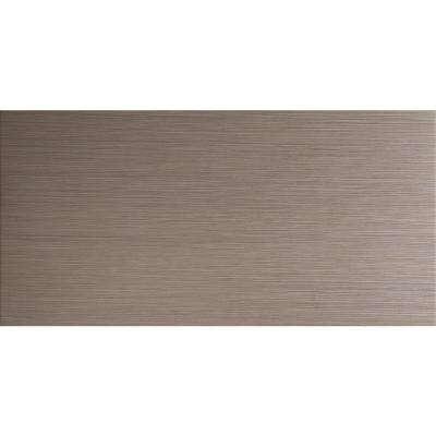 Metro Charcoal 12 in. x 24 in. Glazed Porcelain Floor and Wall Tile (16 sq. ft. / case)