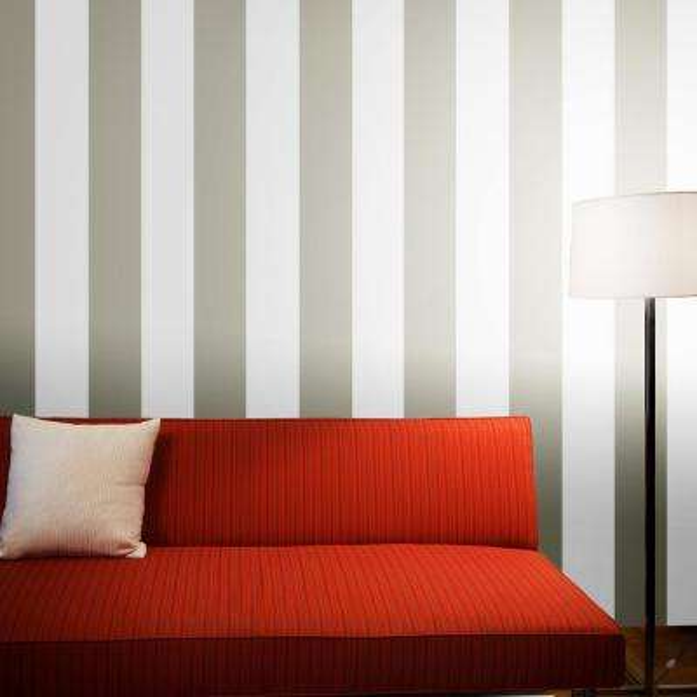 Stripe Dove Grey Self-Adhesive Removable Wallpaper