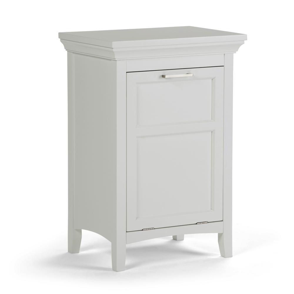 Avington 20.5 in. W x 29.9 in. H Laundry Hamper in Pure White