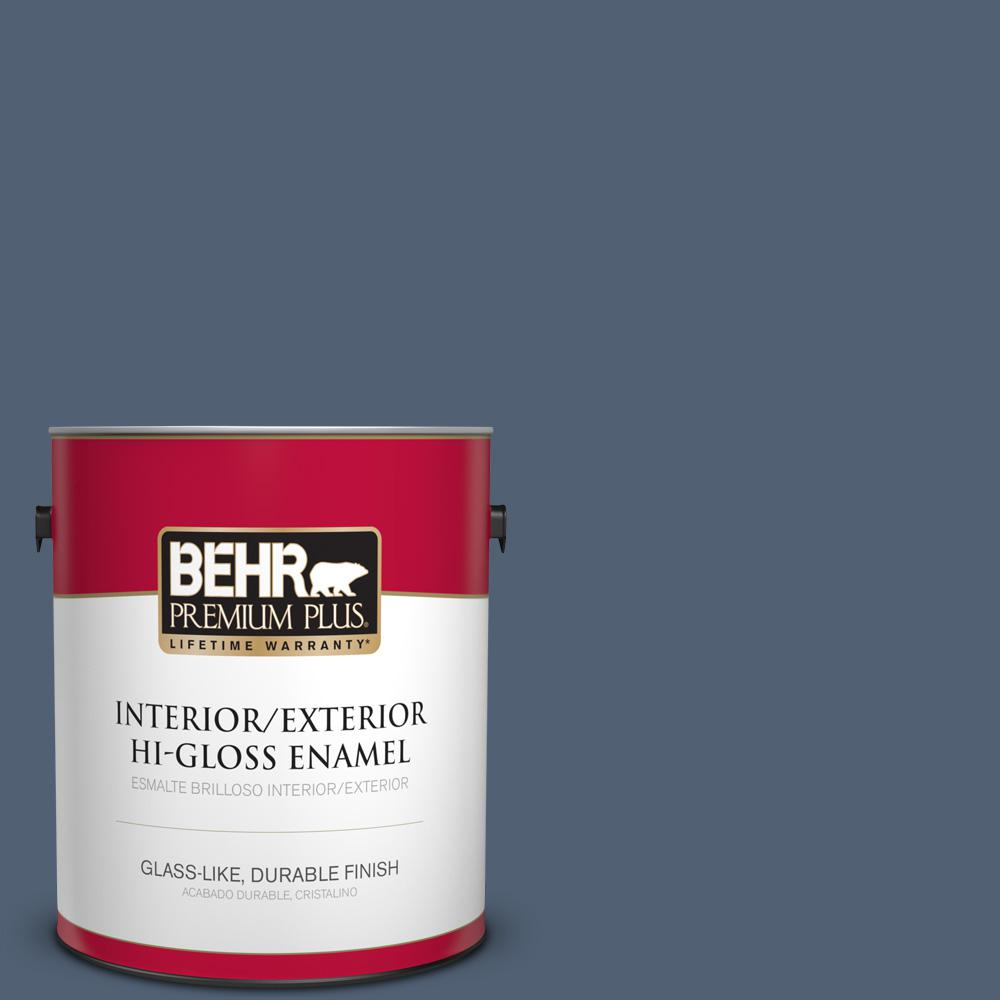 1 gal. #PPU14-19 English Channel Hi-Gloss Enamel Interior/Exterior Paint