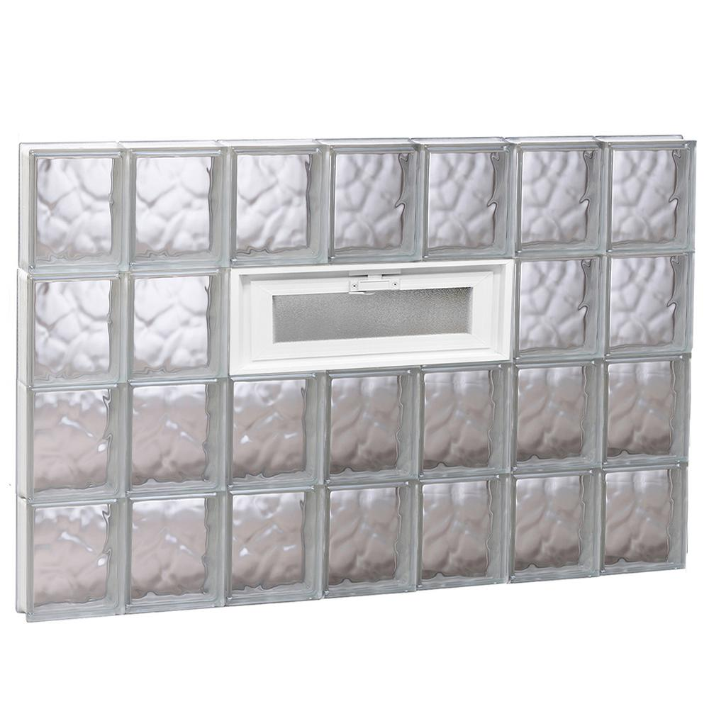 Clearly secure in x 31 in x in wave pattern for Pre assembled glass block windows