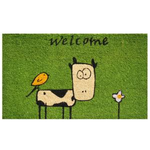 Home & More Cute Cow Door Mat 17 inch x 29 in. by Home & More